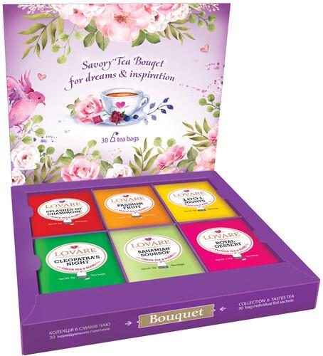 Чайный набор Lovare Bouquet 6 видов 30 шт