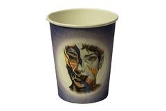 Бумажные стаканы для кофе цветные 330 мл 50 шт