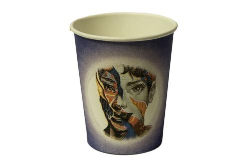 Бумажные стаканы для кофе цветные Плотные 180 мл 50 шт
