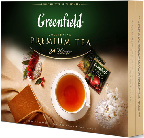 Чайный набор Greenfield Premium tea Collection 24 вида 96 шт