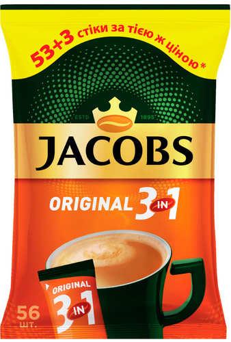 Кофе 3 в 1 Jacobs Original 56 стиков