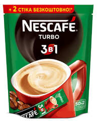 Кофе 3 в 1 Nescafe Turbo 52 стика