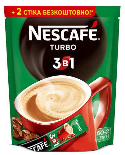 Кофе 3 в 1 Nescafe Turbo 52 стика