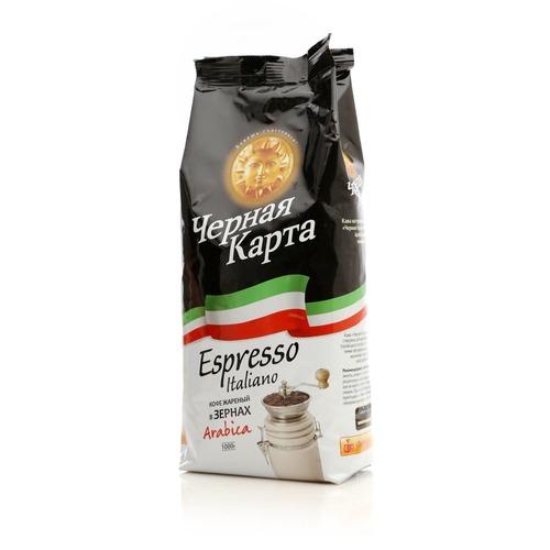Кофе в зернах Черная карта Espresso Italiano 1 кг