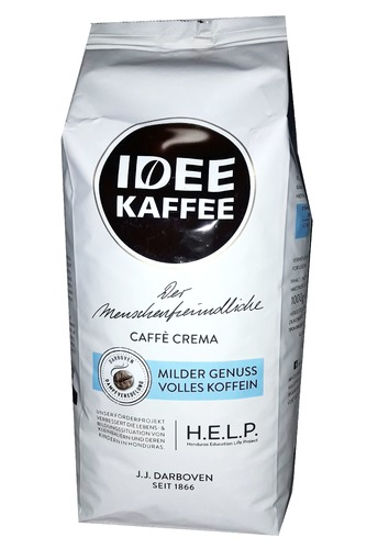 Кофе в зернах J.J. Darboven Idee Kaffee Crema 1 кг