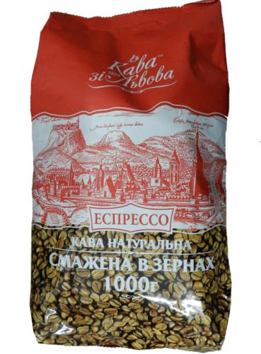 Кофе в зернах Кава зі Львова Еспрессо 1 кг