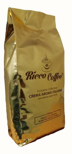 Кофе в зернах Ricco Coffee Crema Aroma Italiano 1 кг
