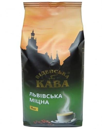 Кофе в зернах Віденська кава Львівська Міцна 1 кг
