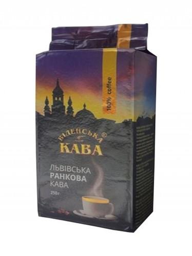 Кофе в зернах Віденська кава Львівська ранкова 250 г