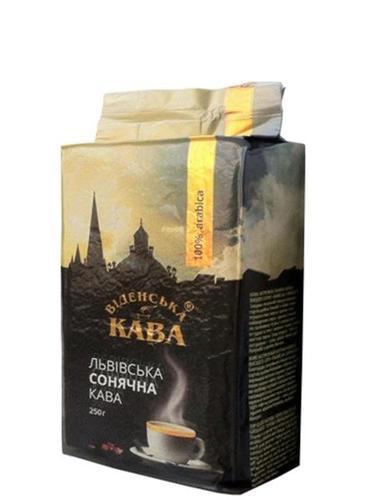 Кофе в зернах Віденська кава Львівська сонячна 1 кг