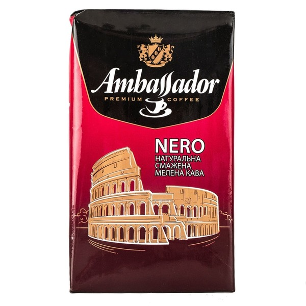 Молотый кофе Ambassador Nero 225 г