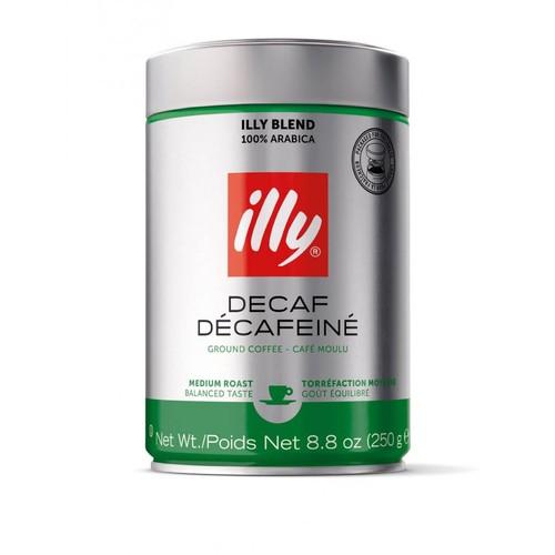 Молотый кофе без кофеина ILLY Decaff 250 г