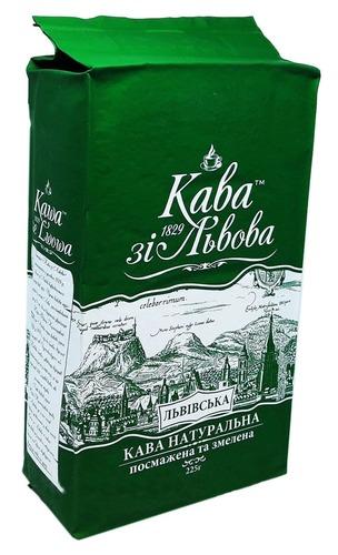 Молотый кофе Кава зі Львова Львівська 225 г