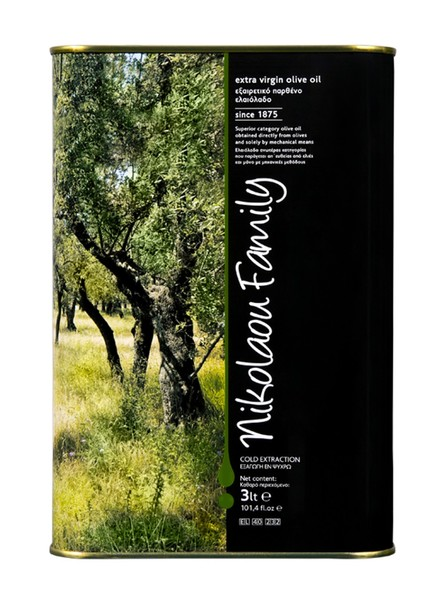 Оливковое масло Nikolaou Family Extra Virgin Olive Oil 3 л