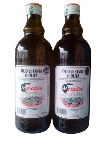 Оливковое масло Olio di Sansa di Oliva Morettini стекло 1 л
