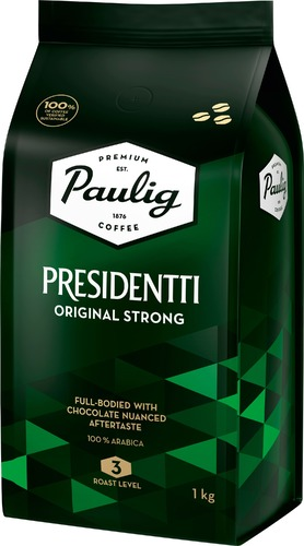 Кофе в зернах Paulig Presidentti Original strong 1 кг