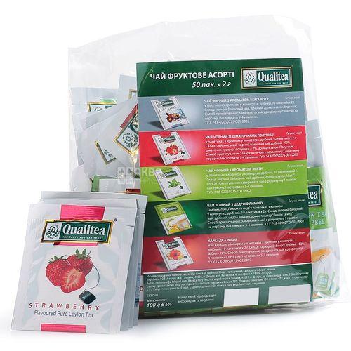 Фруктовый чай Qualitea Фруктовое ассорти 50 пакетов