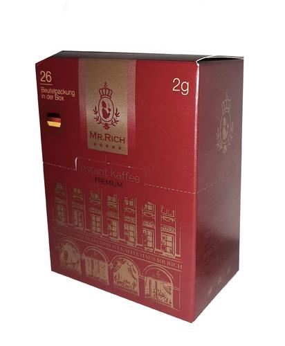Растворимый кофе Mr.Rich Instant Kaffee Premium в стиках 26 шт по 2 г