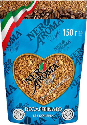 Растворимый кофе без кофеина Nero Aroma Decaffeinato 150 г