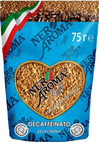 Растворимый кофе без кофеина Nero Aroma Decaffeinato 75 г