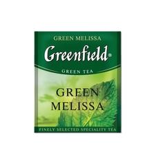 Зеленый чай Greenfield Green Melissa 100 пакетов по 2 г