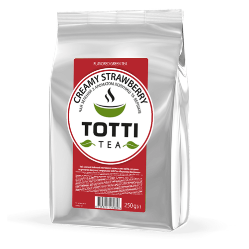 Зеленый чай Totti Creamy Strawberry 250 г